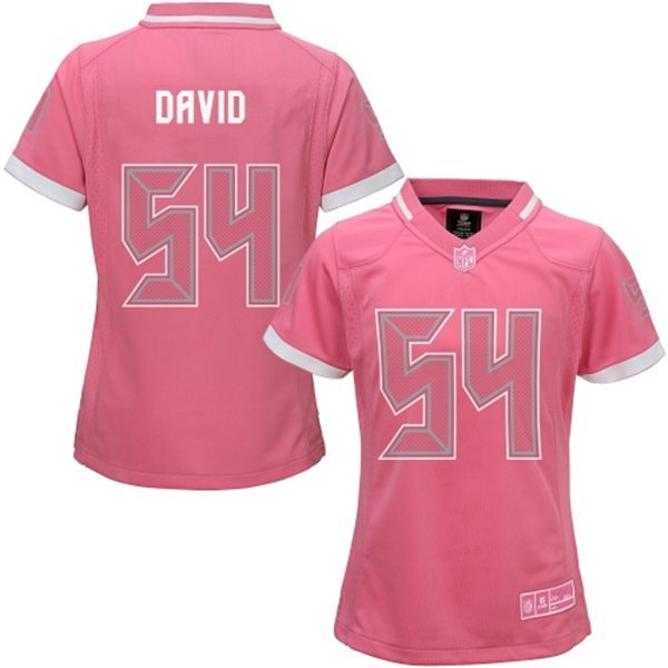 Womens Tampa Bay Buccaneers 54 David 2015 Pink Bubble Gum Jersey