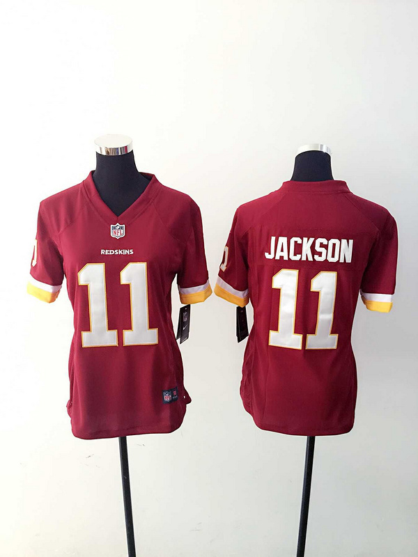 Womens Washington Red Skins 11 Jackson Red Nike Jerseys