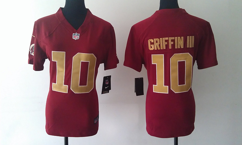 Womens Washington Redskins 10 Griffin iii Red Nike Jerseys