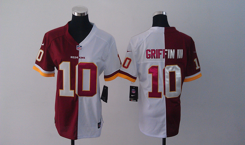 Womens Washington Redskins 10 Griffin iii Red White Nike Split Jersey