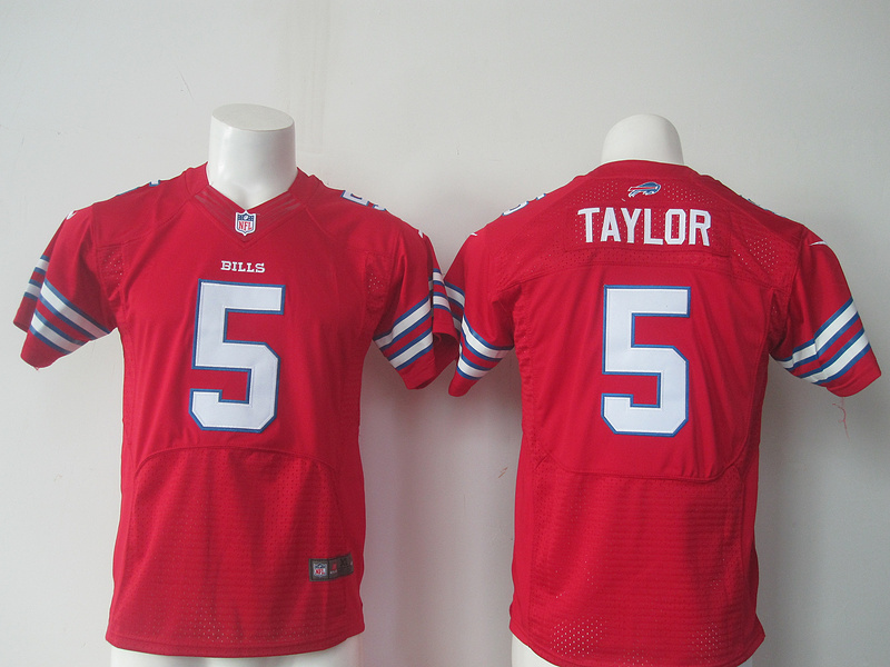 Youth Buffalo Bills 5 Tyrod Taylor Red Nike Jerseys
