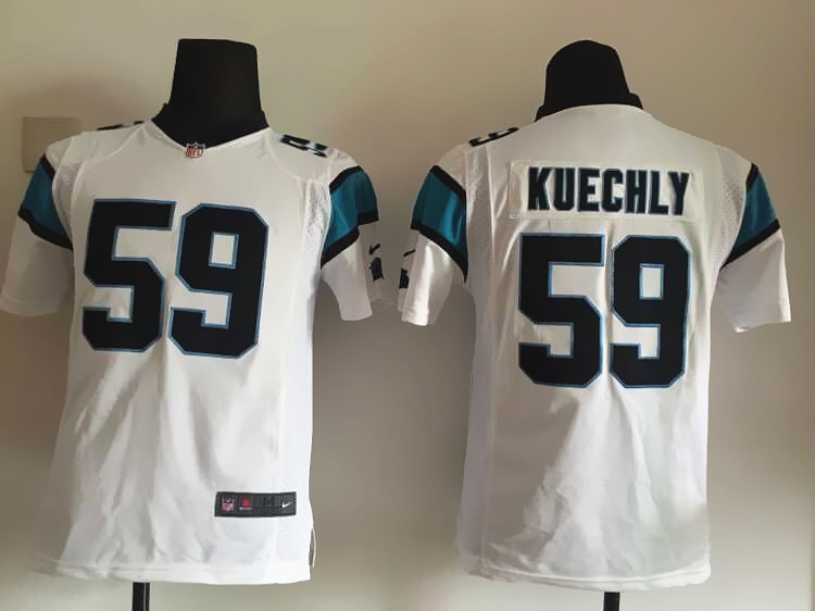 Youth Carolina Panthers 59 Kuechly White 2015 Nike Jersey