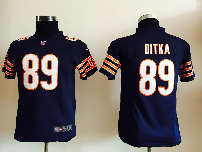 Youth Chicago Bears 89 Ditka Blue Nike Jerseys