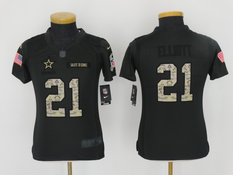 Youth Dallas Cowboys 21 Ellidtt 2016 Nike Anthracite Salute to Service Limited Jersey