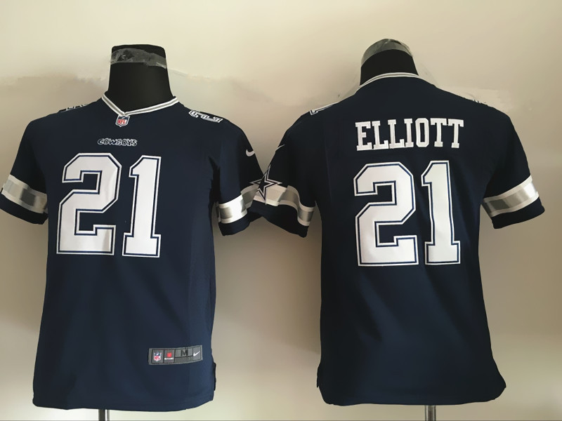 Youth Dallas cowboys 21 Elliott Blue 2016 Nike Jerseys