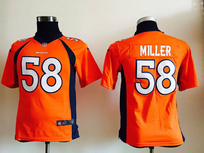 Youth Denver Broncos 58 Miller Orange Nike Jerseys