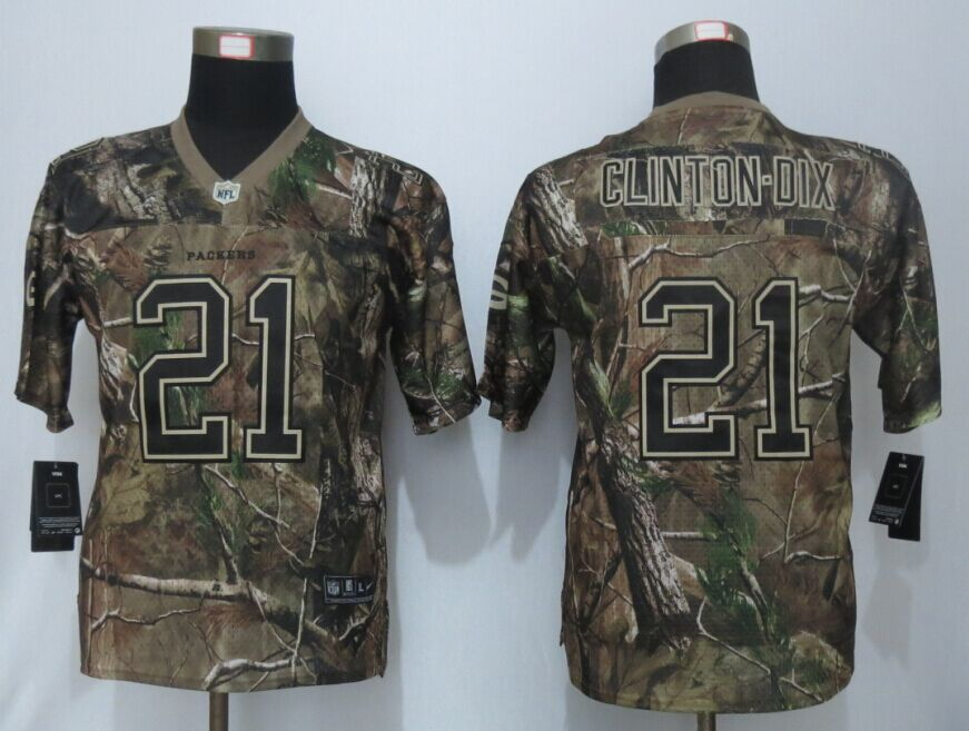 Youth Green Bay Packers 21 Woodson Rodgers Camo Nike Elite Jerseys