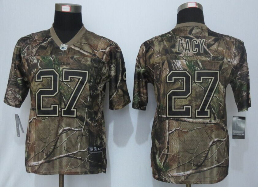 Youth Green Bay Packers 27 Lacy Rodgers Camo Nike Elite Jerseys