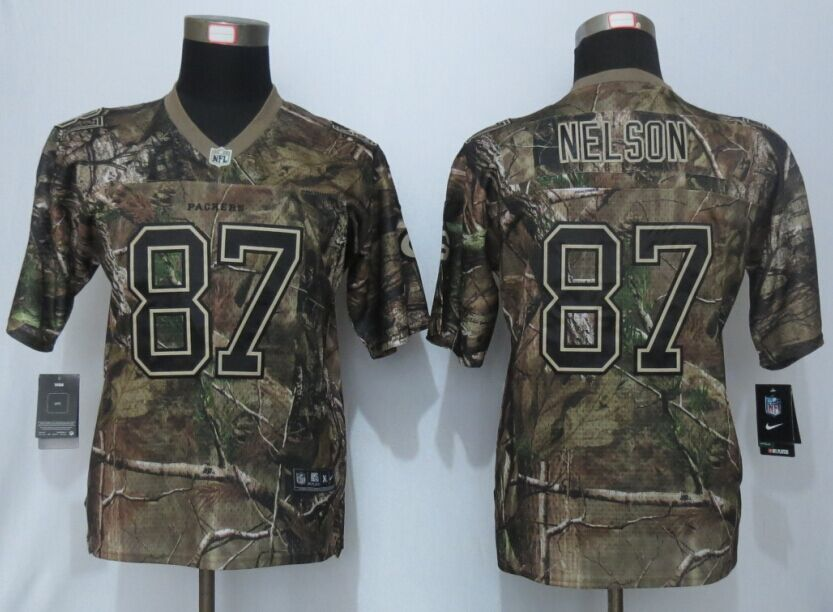 Youth Green Bay Packers 87 Nelson Rodgers Camo Nike Elite Jerseys