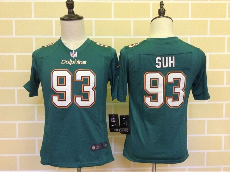 Youth Miami Dolphins 93 Suh Green 2015 Nike Jersey