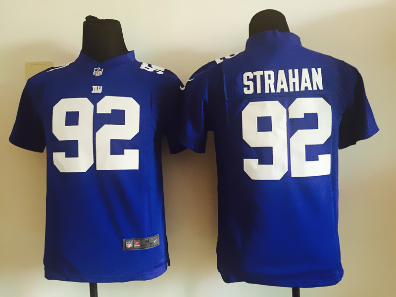 Youth New York Giants 92 Strahan Blue 2015 Nike Jersey