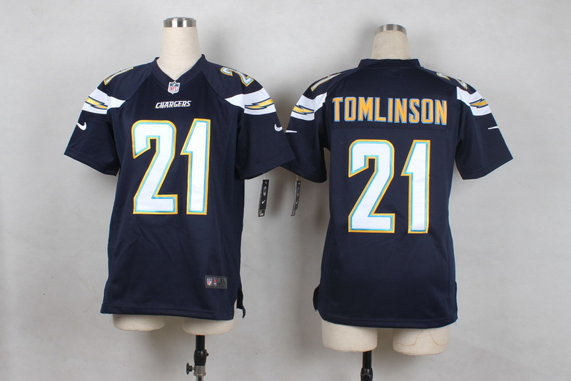 Youth San Diego Chargers 21 Tomlinson Blue 2015 Nike Jerseys