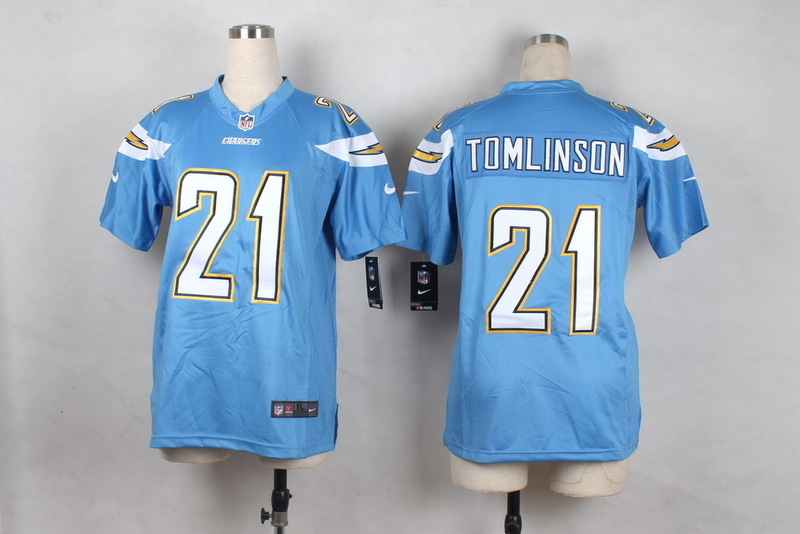 Youth San Diego Chargers 21 Tomlinson Light Blue 2015 Nike Jerseys