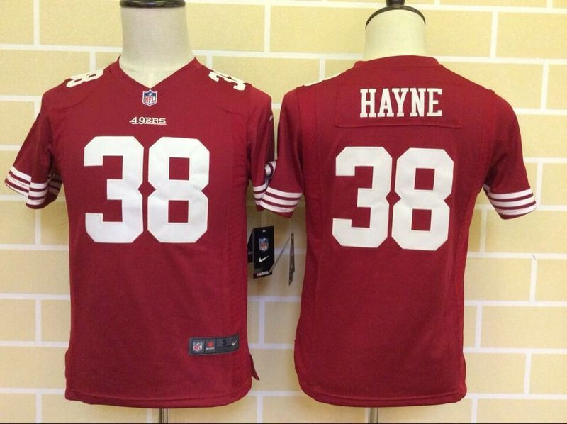 Youth San Francisco 49ers 38 Hayne Red 2015 Nike Jerseys
