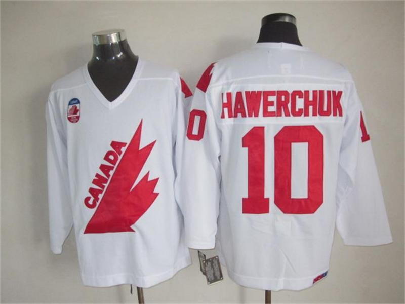 1991 Olympic Team Canada 10 Dale Hawerchuk White