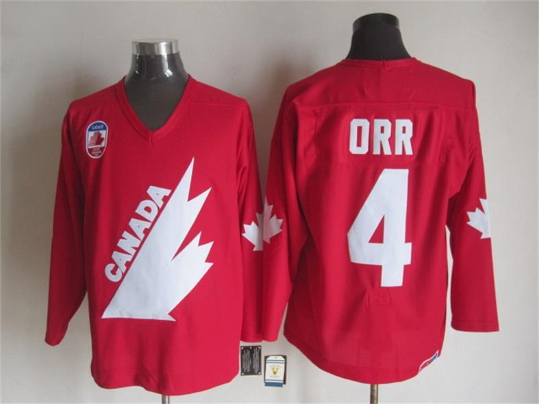 1991 Olympic Team Canada 4 Bobby Orr Red