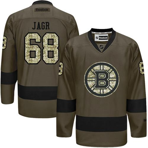 2016 Boston Bruins 68 Jaromir Jagr Green Salute to Service Stitched NHL Jersey