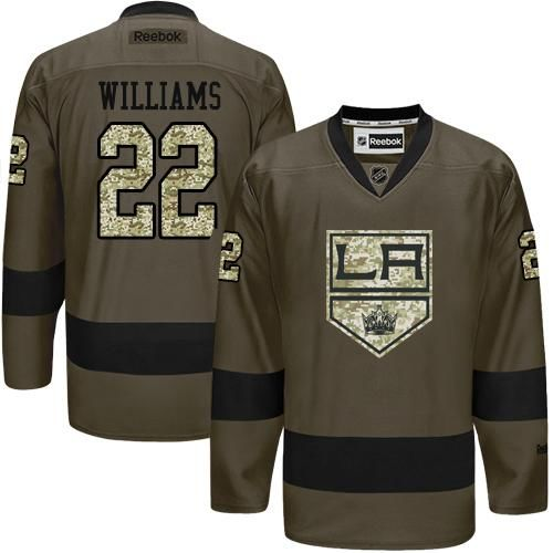 2016 Los Angeles Kings 22 Tiger Williams Green Salute to Service Stitched NHL Jersey