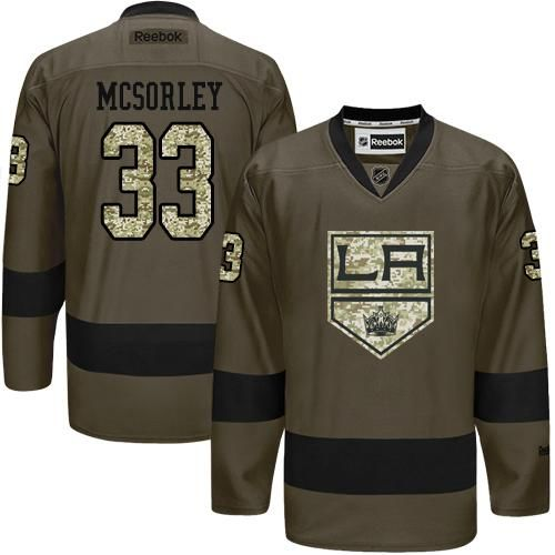 2016 Los Angeles Kings 33 Marty Mcsorley Green Salute to Service Stitched NHL Jersey
