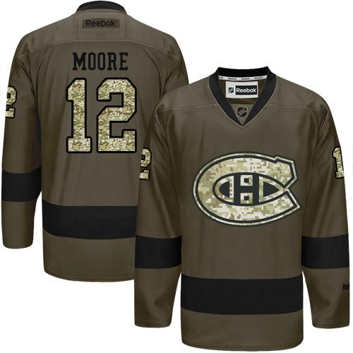 2016 Montreal Canadiens 12 Dickie Moore Green Salute to Service Stitched NHL Jersey