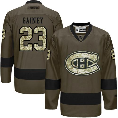 2016 Montreal Canadiens 23 Bob Gainey Green Salute to Service Stitched NHL Jersey