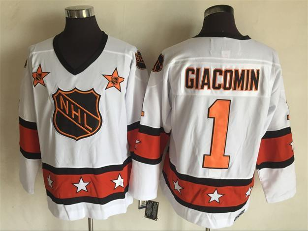 2016 NHL All Star 1 Giacomin White Throwback Jerseys