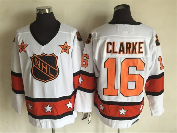 2016 NHL All Star 16 Clarke White Throwback Jerseys