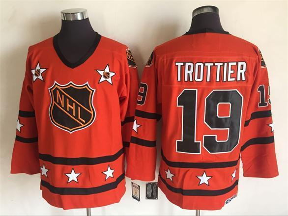 2016 NHL All Star 19 Trottier Orange Throwback Jerseys