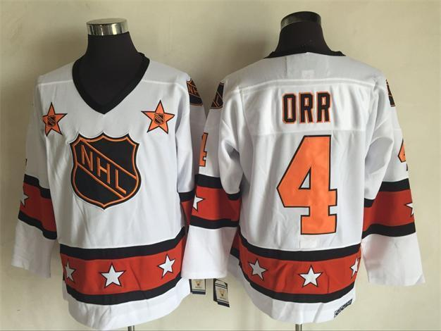 2016 NHL All Star 4 Orr White Throwback Jerseys