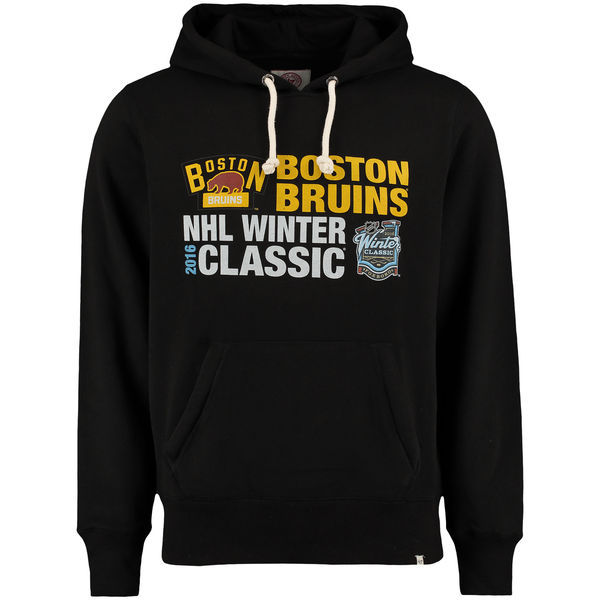 2016 NHL Boston Bruins '47 2016 Winter Classics Crosstown Striker Pullover Sweatshirt - Black