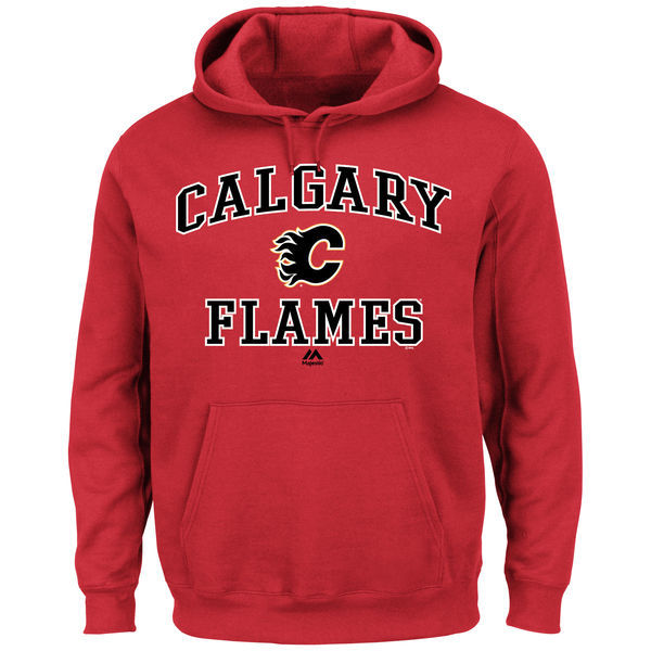 2016 NHL Calgary Flames Majestic Heart Soul Hoodie - Red