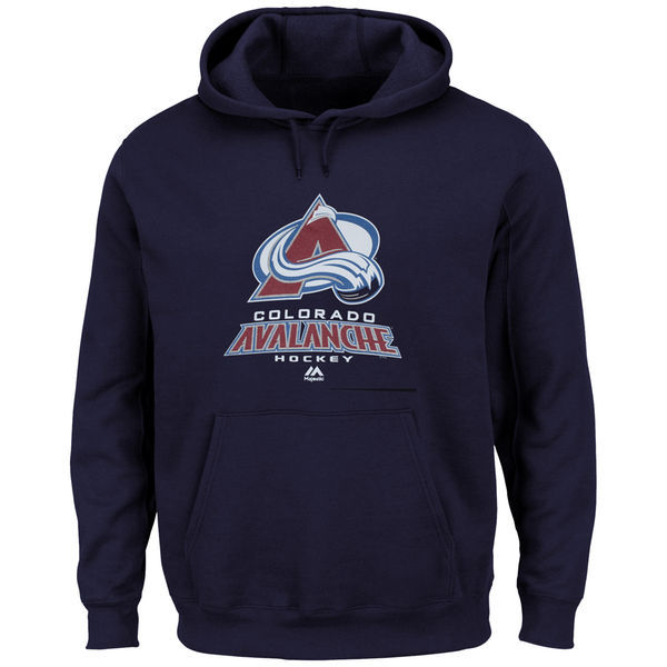 2016 NHL Colorado Avalanche Majestic Big & Tall Critical Victory Pullover Hoodie - Navy Blue
