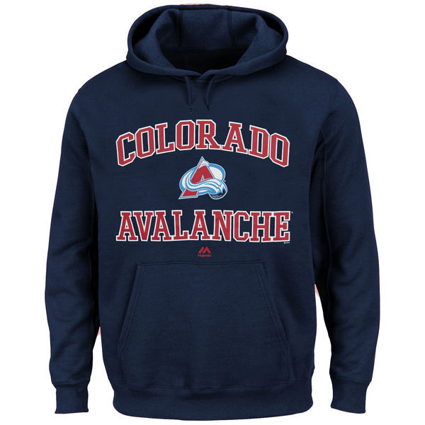 2016 NHL Colorado Avalanche Majestic Heart Soul Hoodie - Navy Blue