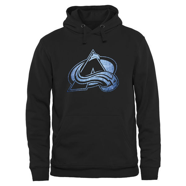 2016 NHL Colorado Avalanche Rinkside Pond Hockey Pullover Hoodie - Black