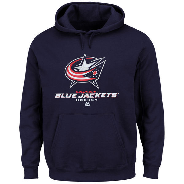 2016 NHL Columbus Blue Jackets Majestic Big Tall Critical Victory Pullover Hoodie - Navy Blue