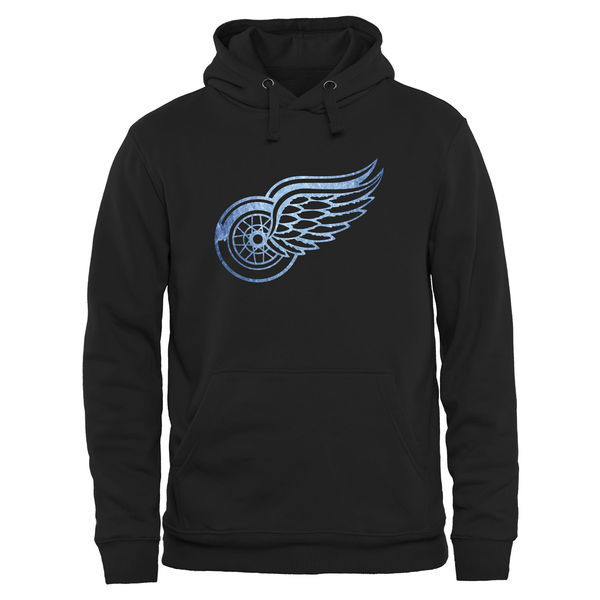 2016 NHL Detroit Red Wings Rinkside Pond Hockey Pullover Hoodie - Black