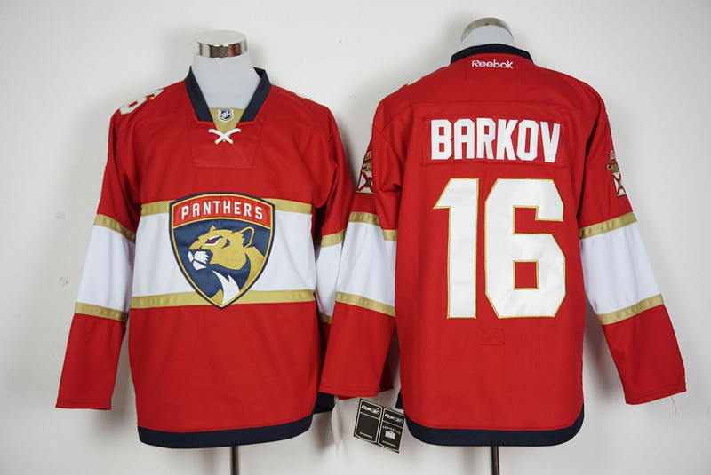 2016 NHL Florida Panthers 16 Barkov Red Jerseys