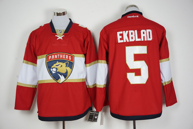 2016 NHL Florida Panthers 5 Ekblad Red Jerseys