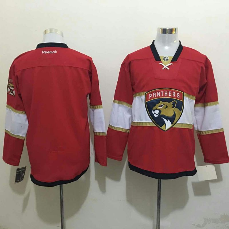 2016 NHL Florida Panthers Blank Red Jerseys