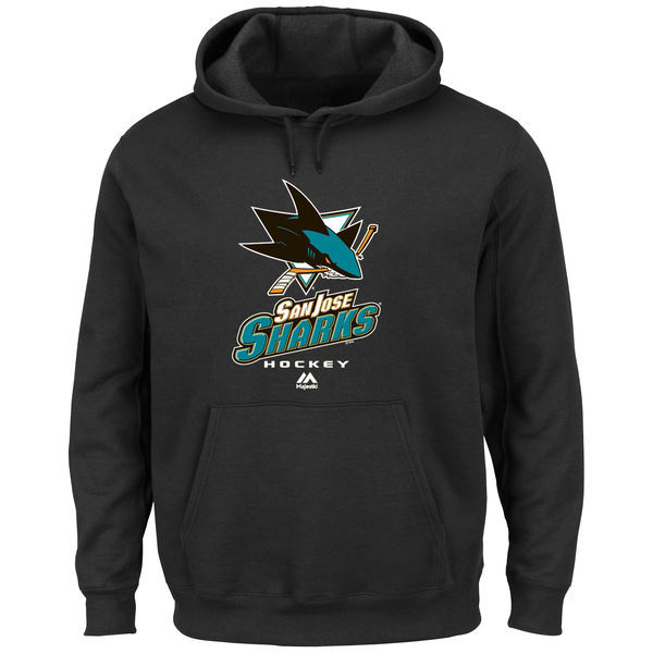 2016 NHL Majestic San Jose Sharks Critical Victory VIII Pullover Hoodie - Black