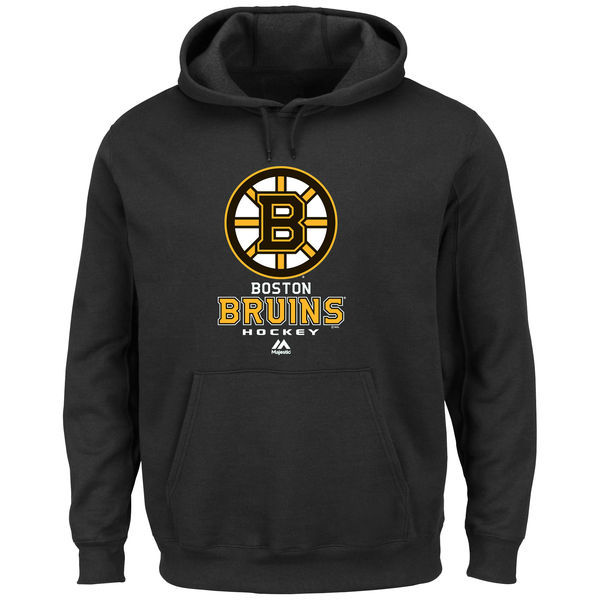 2016 NHL Majsetic Boston Bruins Critical Victory VIII Pullover Hoodie - Black