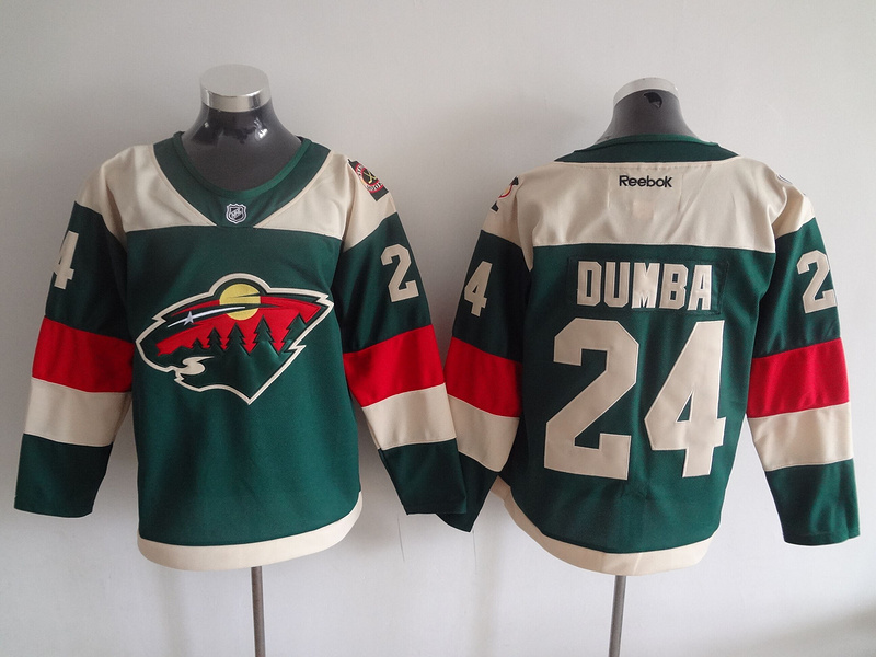 2016 NHL Minnesota Wild 24 Dumba Green Jerseys