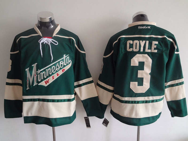 2016 NHL Minnesota Wild 3 Coyle Green Jerseys