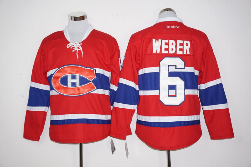 2016 NHL Montreal Canadiens 6 Weber Red Jerseys