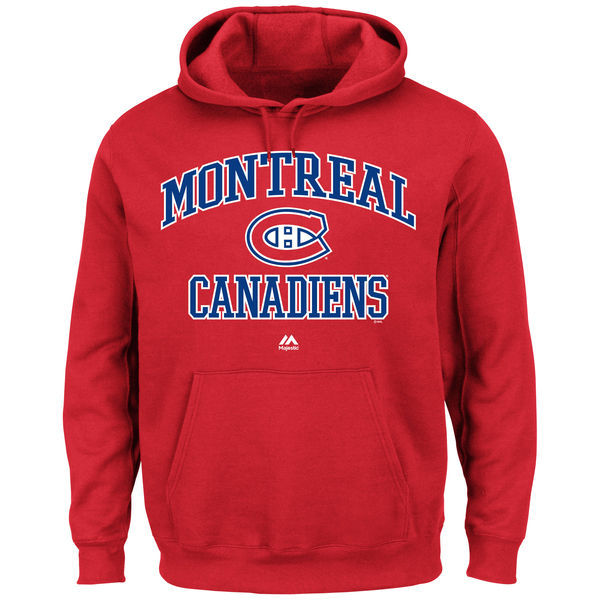 2016 NHL Montreal Canadiens Majestic Heart & Soul Hoodie - Red