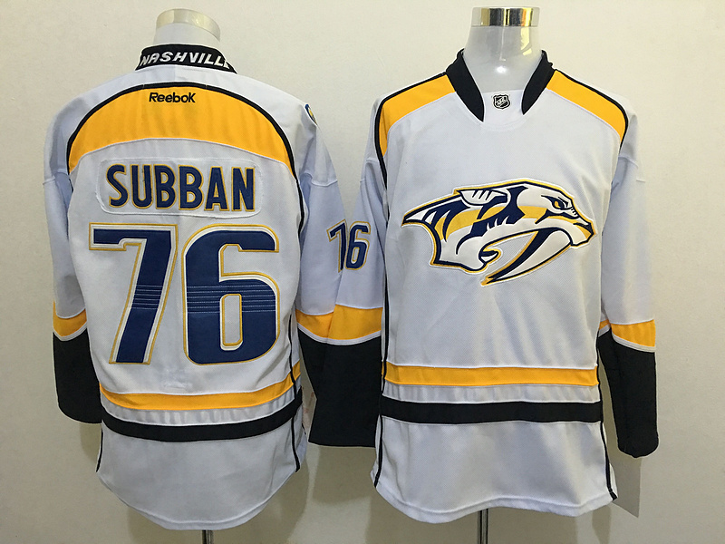 2016 NHL Nashville Predators 76 Subban White Jerseys