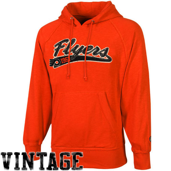 2016 NHL Old Time Hockey Philadelphia Flyers Hudson Pullover Hoodie - Orange
