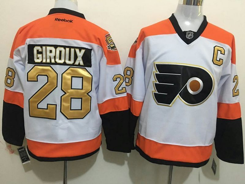 2016 NHL Philadelphia Flyers 28 Giroux white 50th Jerseys