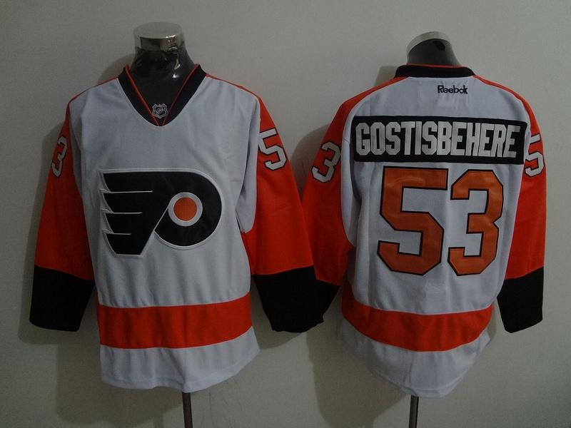 2016 NHL Philadelphia Flyers 53 Gostisbehere White Jerseys