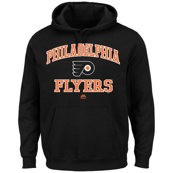2016 NHL Philadelphia Flyers Majestic Heart & Soul Hoodie - Black